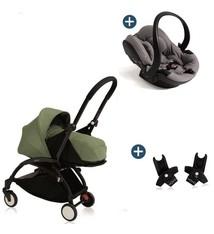 Babyzen Babyzen Yoyo+ buggy 0+ Peppermint, frame zwart incl. autostoel Babyzen iZi Go Modular by BeSafe grijs (2018)