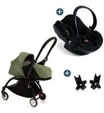 Babyzen Babyzen Yoyo+ buggy 0+ Peppermint, frame zwart incl. autostoel Babyzen iZi Go Modular by BeSafe zwart (2018)
