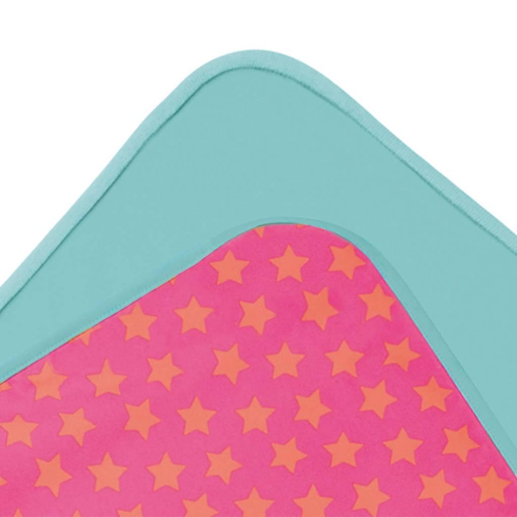Lässig Lässig Splash & Fun Beach Poncho - Handtuch mit Kapuze Peach Stars
