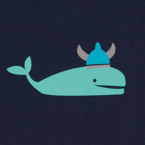 Lässig Lässig Splash & Fun lange mouw zon- en zwemshirt. Blue Whale 6 maanden