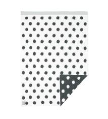 Lässig Lässig Babydecke, gestrickt 100% Bio Baumwolle Sterne weiß / grau