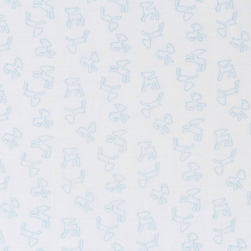 Lässig Lässig bamboo swaddle & burp doek / luier 120x120cm lela licht blue - 2 stuks