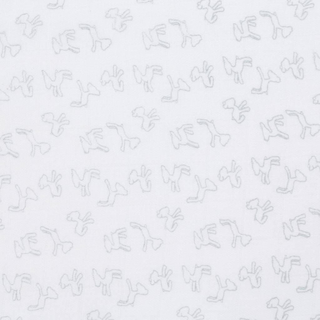 Lässig Lässig Bambuswickel & Spucktuch / Windel 120x120cm Lela hellgrau - 2 Stück