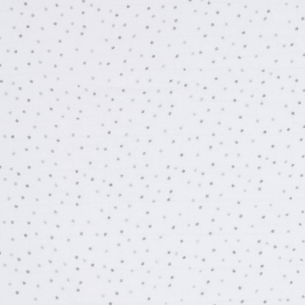 Lässig Lässig bamboo swaddle & burp doek / luier 120x120cm lela licht grijs - 2 stuks