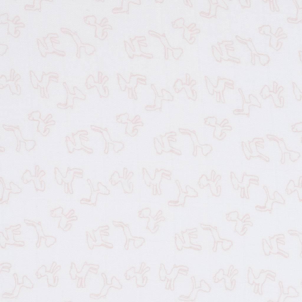 Lässig Lässig Bambuswickel & Spucktuch / Windel 120x120cm Lela hellrosa - 2 Stück