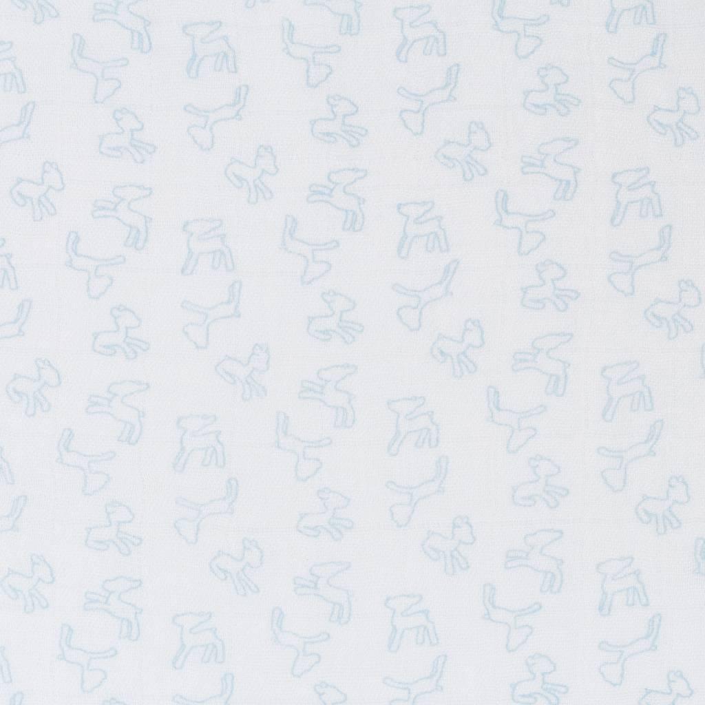 Lässig Lässig bamboo swaddle & burp doek / luier 80x80cm lela licht blue - 3 stuks