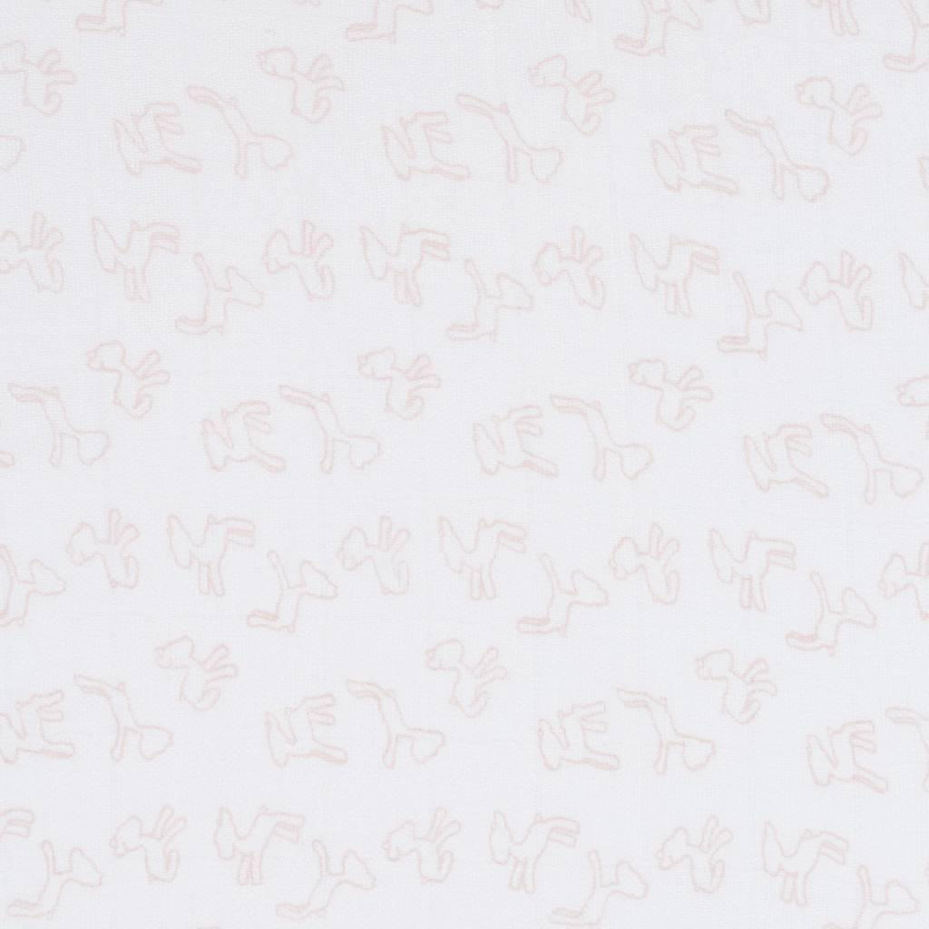 Lässig Lässig bamboo swaddle & burp doek / luier 80x80cm lela licht rose - 3 stuks