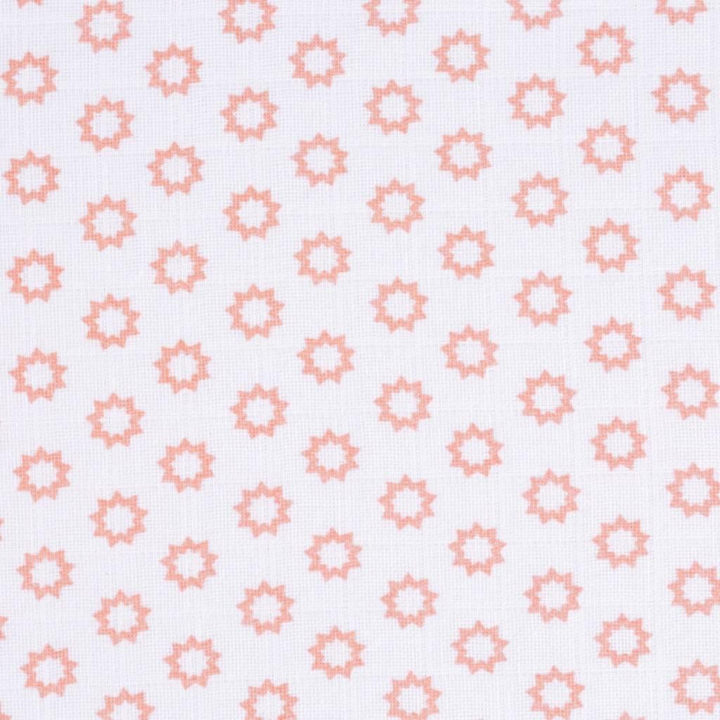 Lässig Lässig swaddle & burp doek / luier 3 stuks 85x85cm stars licht rose