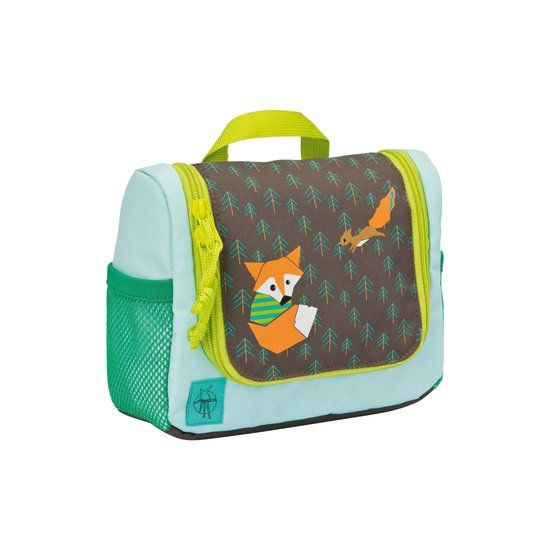 Lässig Lässig Toilettasje little tree fox blue / green