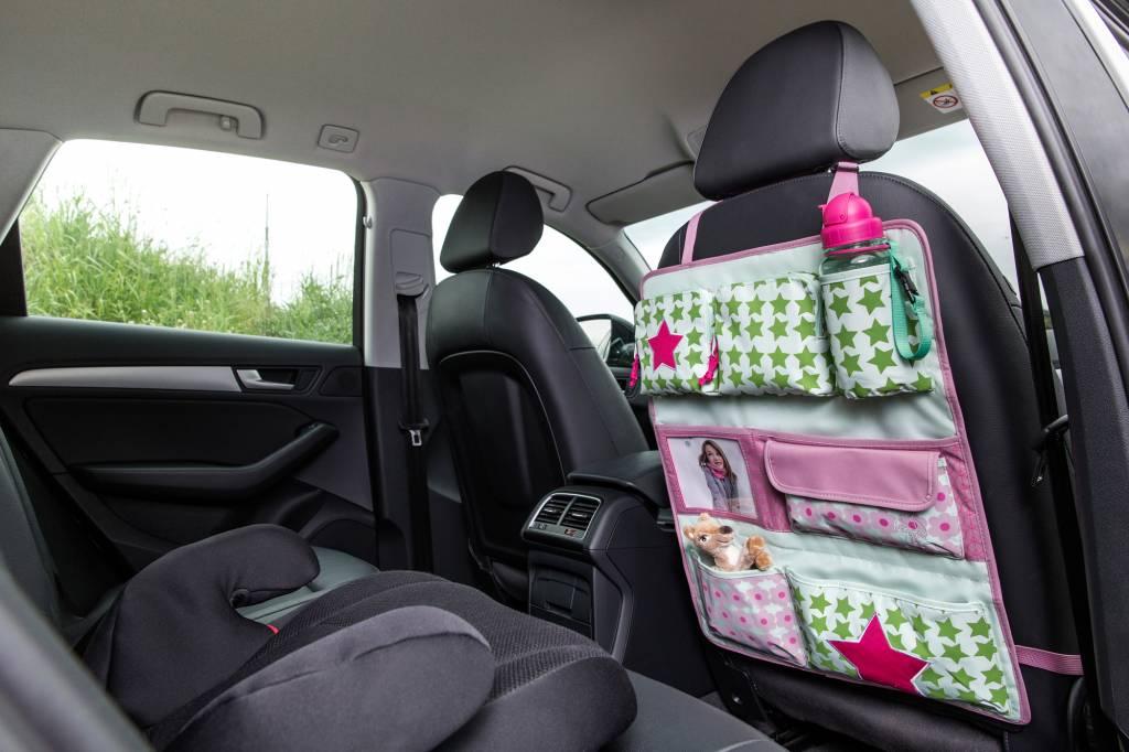 Lässig Lässig Auto wrap-to-go / organizer starlight magenta