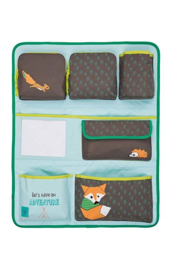 Lässig Lässig Auto wrap-to-go / organizer little tree fox blue