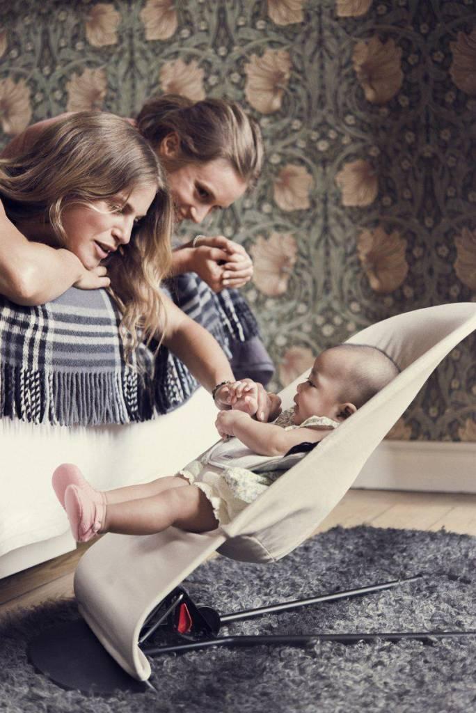 BABYBJÖRN BABYBJÖRN Wipstoeltje Balance Soft Beige Grijs Cotton Jersey