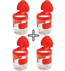 OXO tot Set van 4 stuks OXO tot Groot Flip-Top Snackdoosje - Oranje