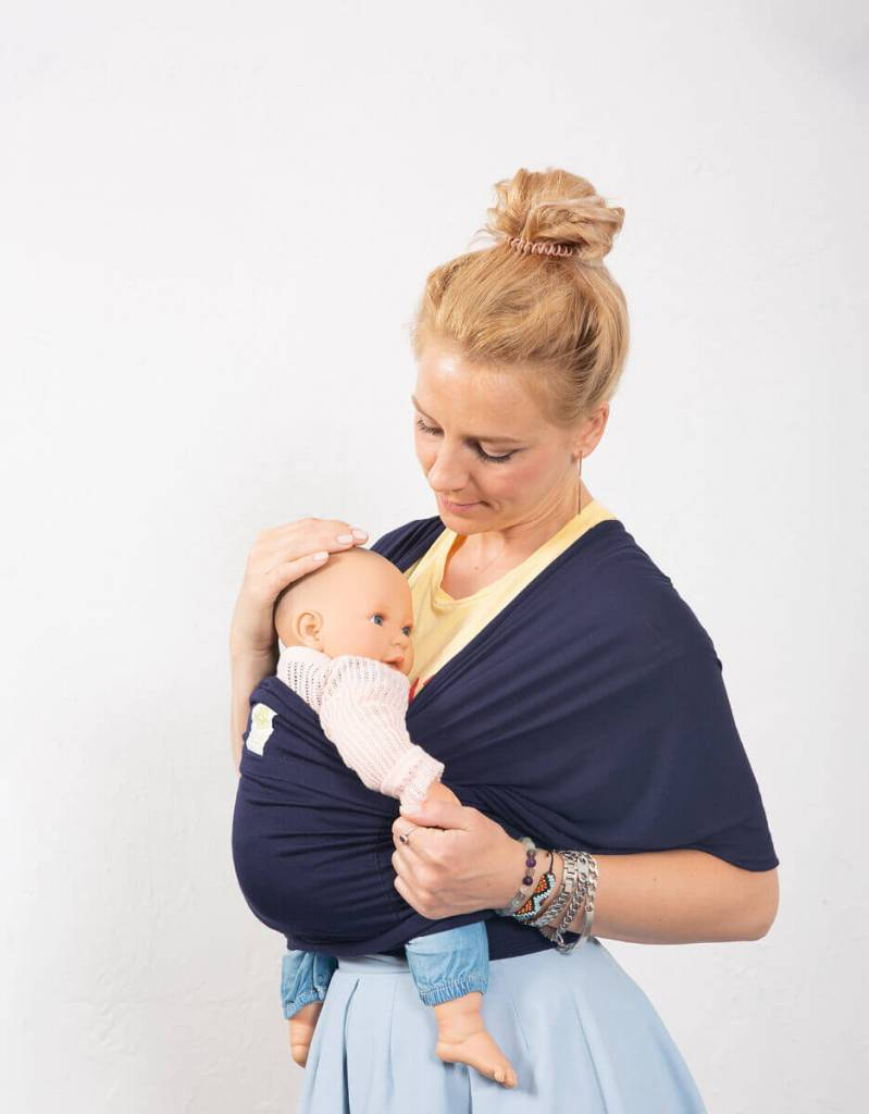 Lille Baby Lille Baby Tie the knot Wrap Navy