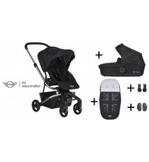 Easywalker Mini by Easywalker Charley KInderwagen + Reiswieg + Voetenzak + Autostoel-adapter + Hoogte-adapter Oxford Black