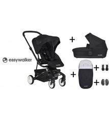 Easywalker Easywalker Charley Kinderwagen + Reiswieg + Voetenzak + Autostoel-adapter en Hoogte-adapter Night Black