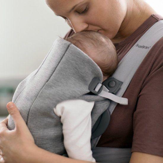 BABYBJÖRN BABYBJÖRN Babytrage Mini Hellgraues 3D-Trikot