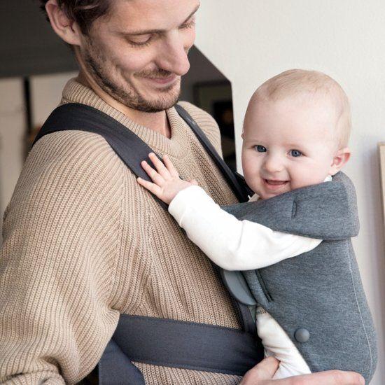 BABYBJÖRN BABYBJÖRN Babytrage Mini Dunkelgraues 3D-Trikot