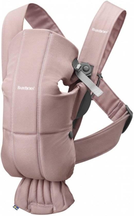 BABYBJÖRN BABYBJÖRN Babytrage Mini Dusty Pink Cotton
