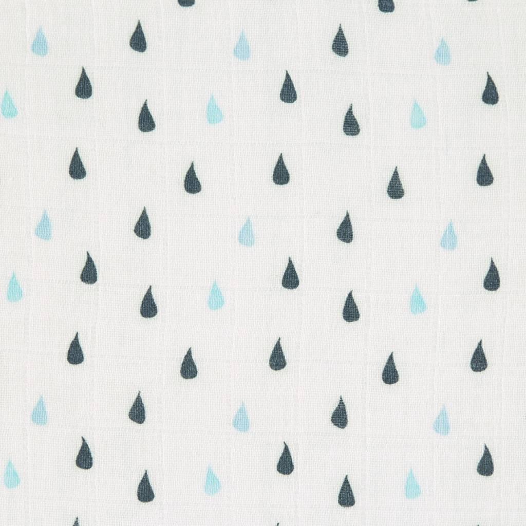 Lässig Lässig Heavenly soft swaddle doek / luier XL 2 stuks Little Water Whale 120 x 120 cm