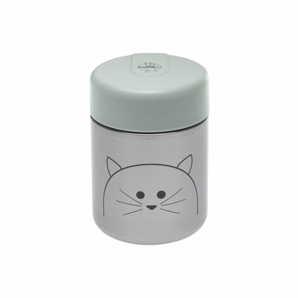 Lässig Lässig food jar (isothermisch bewaarpotje) voor babyvoeding Little Chums Cat