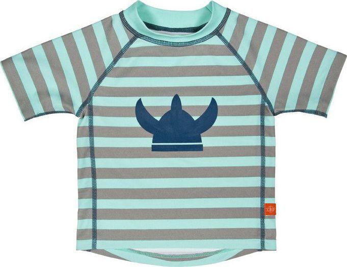 L�ssig L�ssig Splash & Fun Korte mouw Rashguard - zwemshirt - Striped aqua
