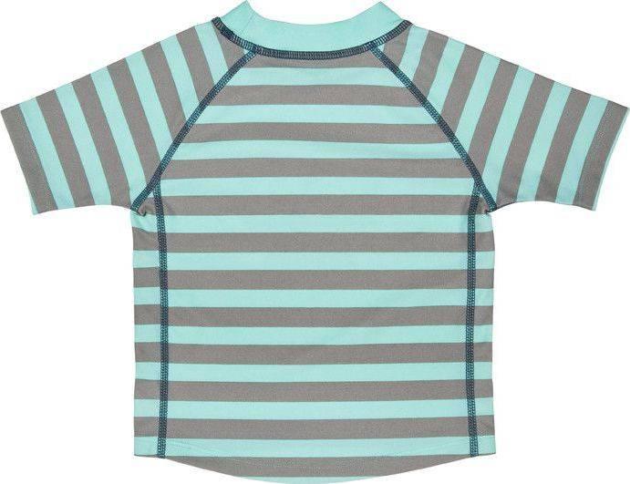 Lässig Lässig Splash & Fun Korte mouw Rashguard / zwemshirt - Striped aqua