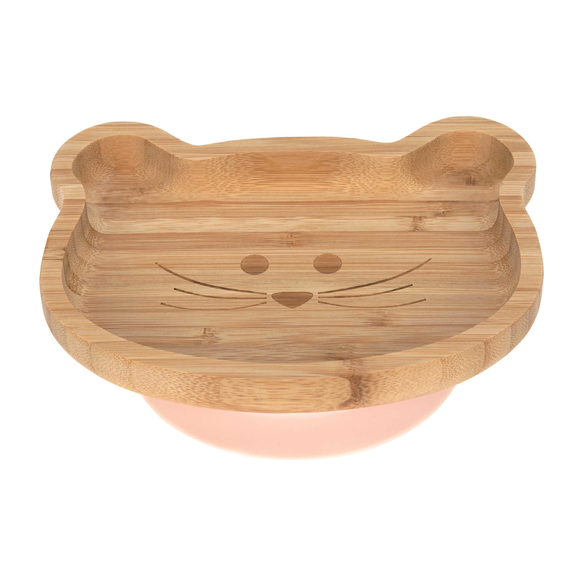 Lässig Lässig 4Babies & Kids Bord bamboo/hout met zuignap silicone little chums mouse