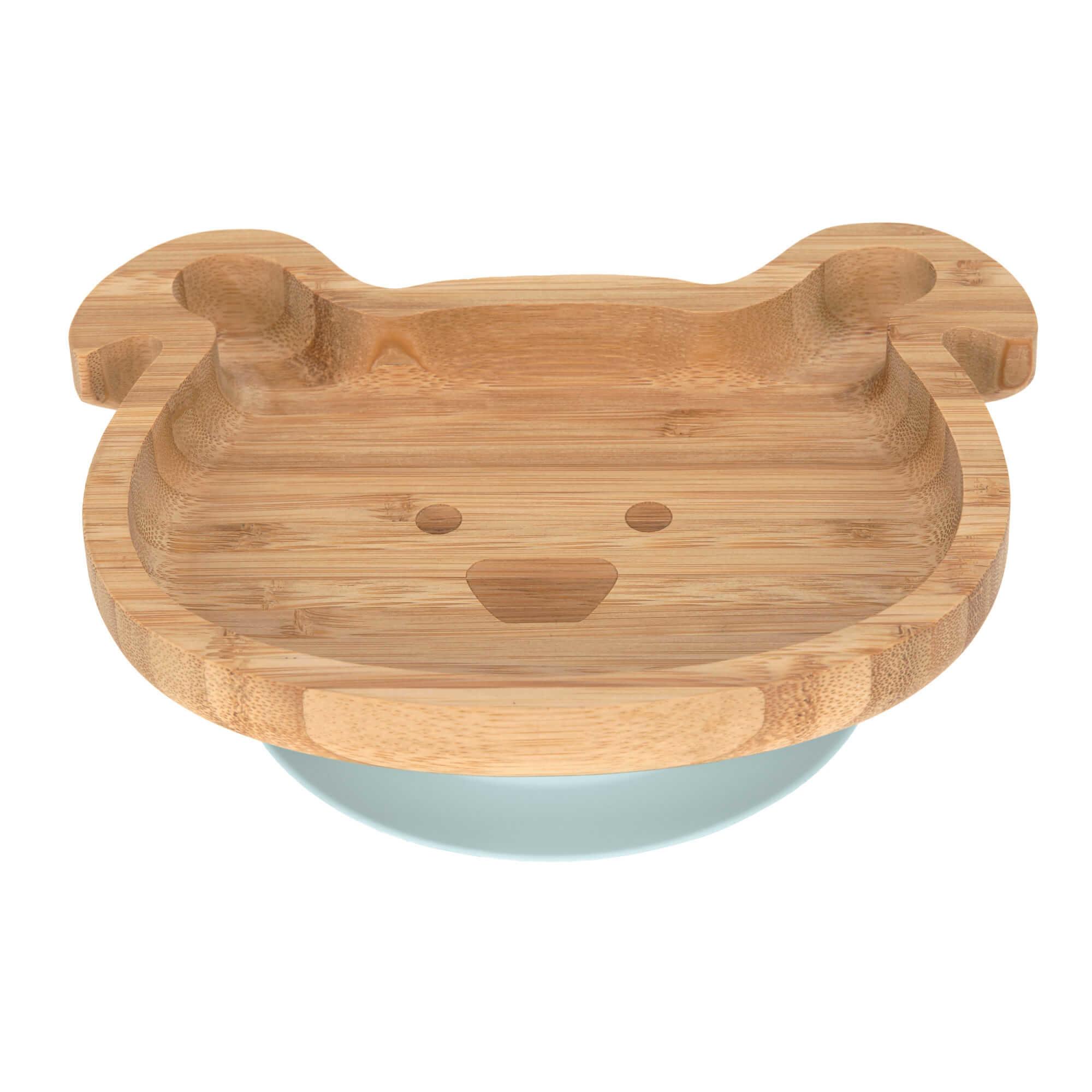 Lässig Lässig 4Babies & Kids Bord bamboo/hout met zuignap silicone little chums dog
