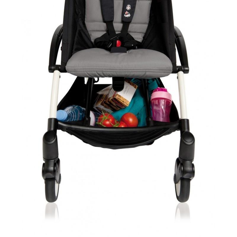 Babyzen Babyzen Yoyo+ buggy 6+ Grijs, frame zwart incl. autostoel Babyzen iZi Go Modular by BeSafe zwart