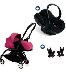 Babyzen Babyzen Yoyo+ buggy 0+ Rose, frame zwart incl. autostoel Babyzen iZi Go Modular by BeSafe zwart (2018)