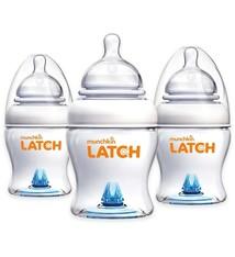 Munchkin 3 Stück Munchkin Latch Fütterungsflasche 120 ml (ideale Flasche als Nachuntersuchung nach dem Stillen)
