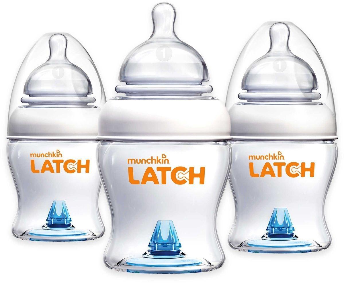 Munchkin 3 stuks Munchkin Latch zuigfles 120ml (ideale fles als opvolging na borstvoeding)