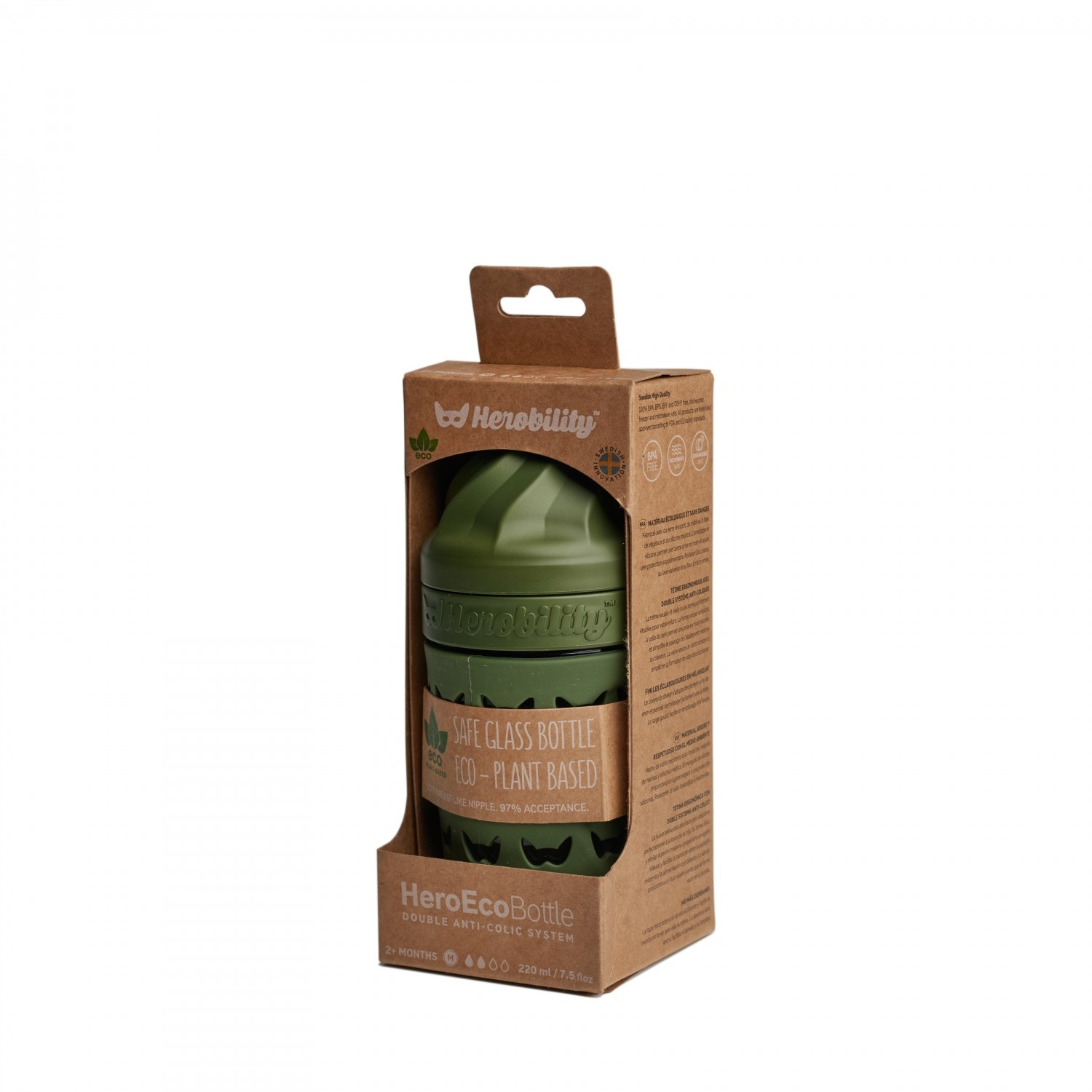 Herobility Herobility HeroEcoBottle Flasche 220ml Forest Green