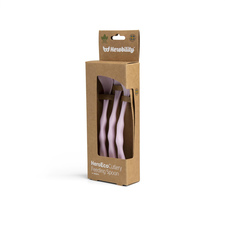 Herobility Herobility HeroEcoFeeding Spoon Voedingslepel (3 pack) Rose
