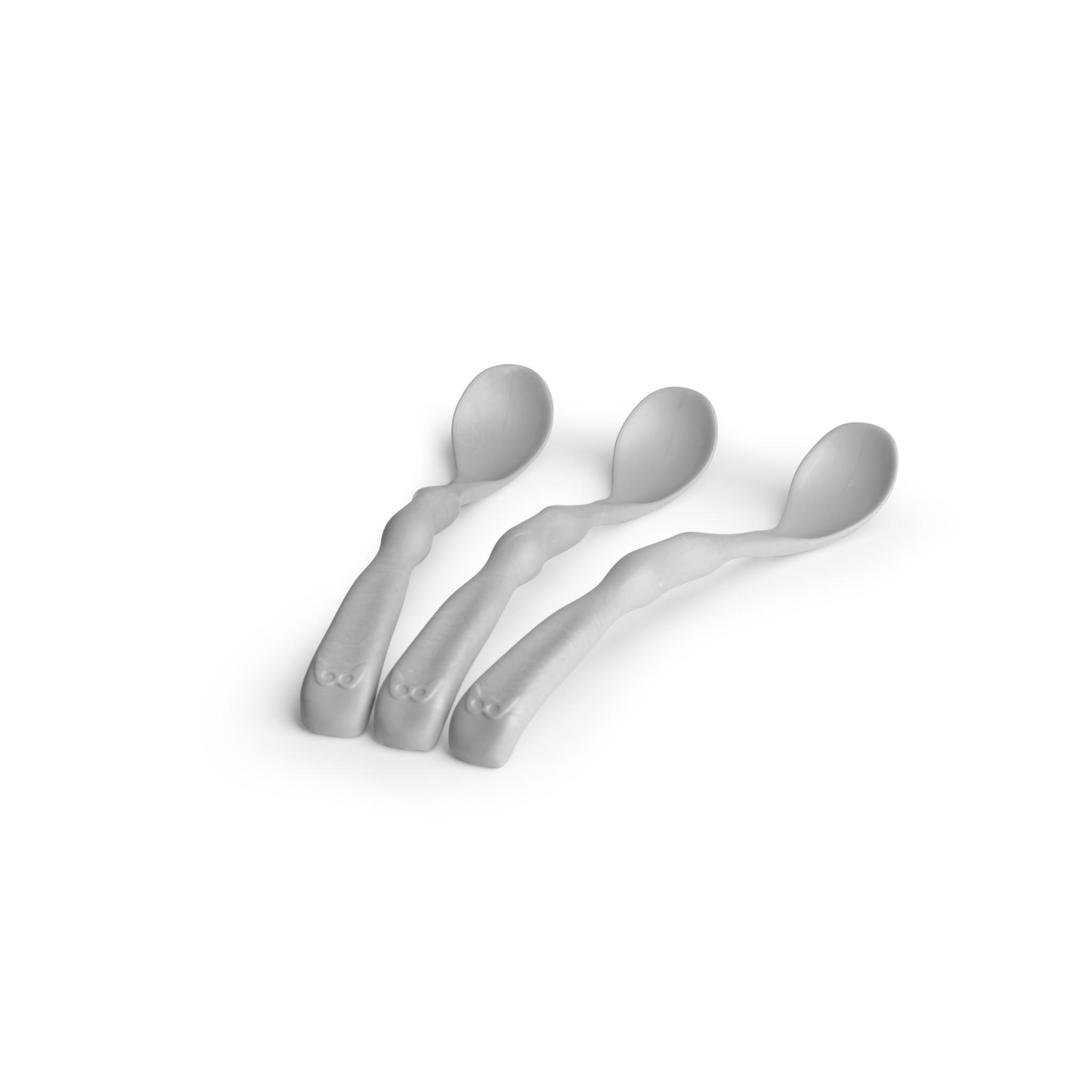 Herobility Herobility HeroEcoFeeding Spoon Voedingslepel (3 pack) Mist Grijs