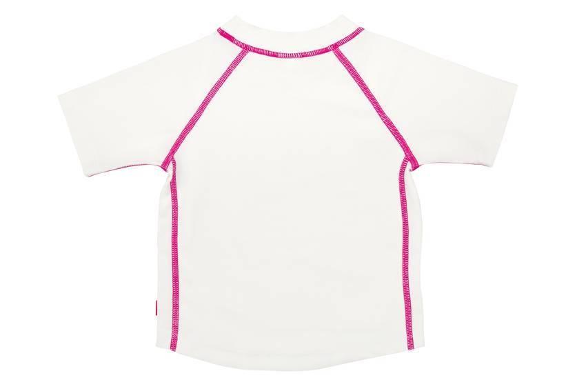 Lässig Lässig Splash & Fun Kurzarm Rashguard / Swim Shirt - Weiß 3 Jahre PINK STITCHING