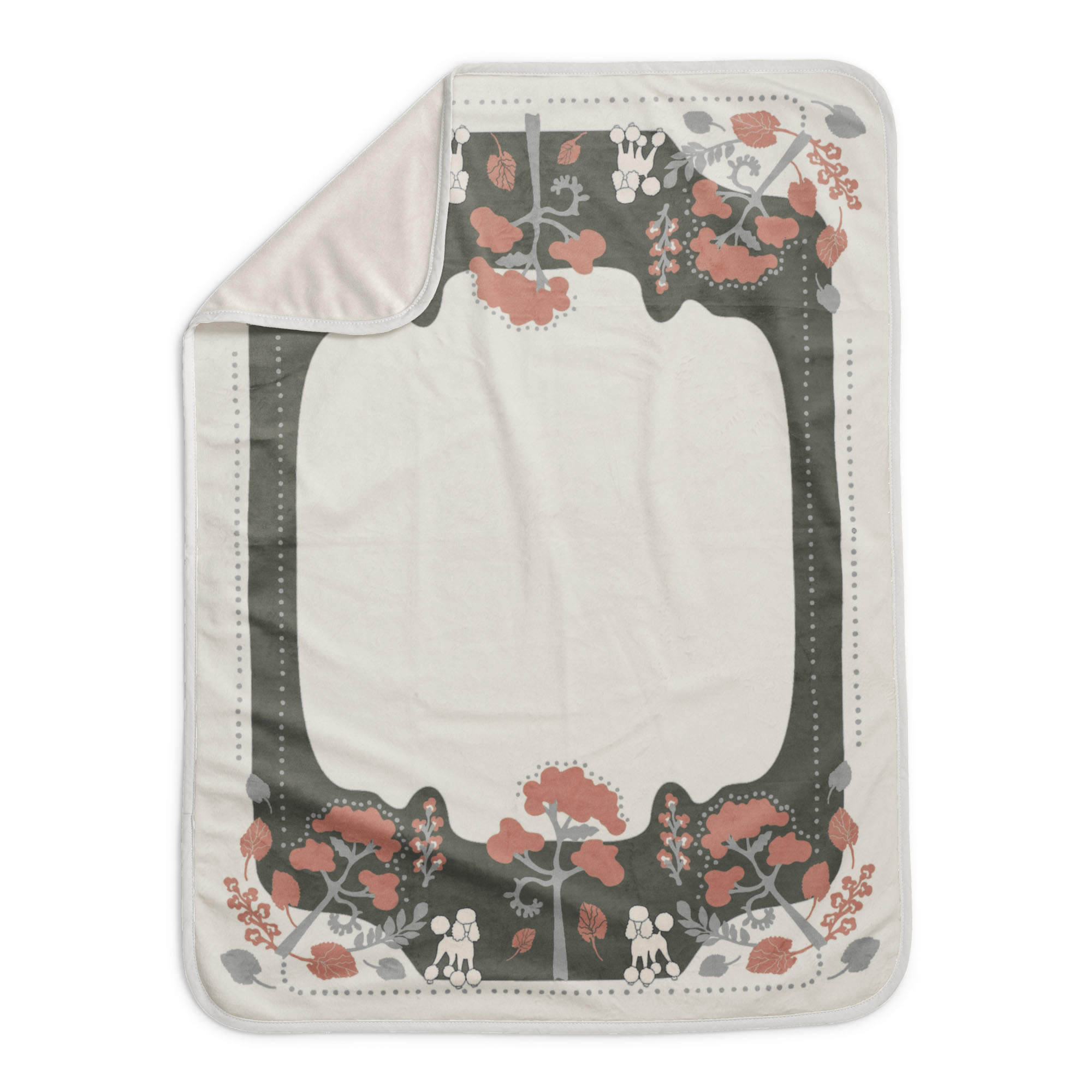 Elodie Details Elodie Pearl Velvet Decke Rebel Pudel Vanille Weiß 70 x 100 cm