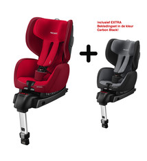 Recaro RECARO OPTIAFIX - INDY RED  + Extra Bekledingset voor de Recaro Optiafix in kleur Carbon Black