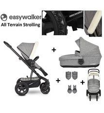 Easywalker Easywalker Harvey² All Terrain Kinderwagen + Reiswieg + Voetenzak + Autostoel-adapter + Hoogte-adapter Peak Arctic Grey