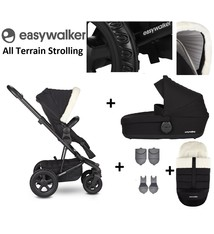 Easywalker Easywalker Harvey² All Terrain Kinderwagen + Reiswieg + Voetenzak + Autostoel-adapter + Hoogte-adapter Peak Polar Black