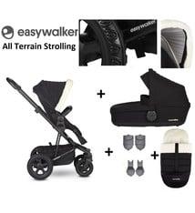 Easywalker Easywalker Harvey² All Terrain Kinderwagen + Reiswieg + Voetenzak + Autostoel-adapter + Hoogte-adapter Peak Polar Black