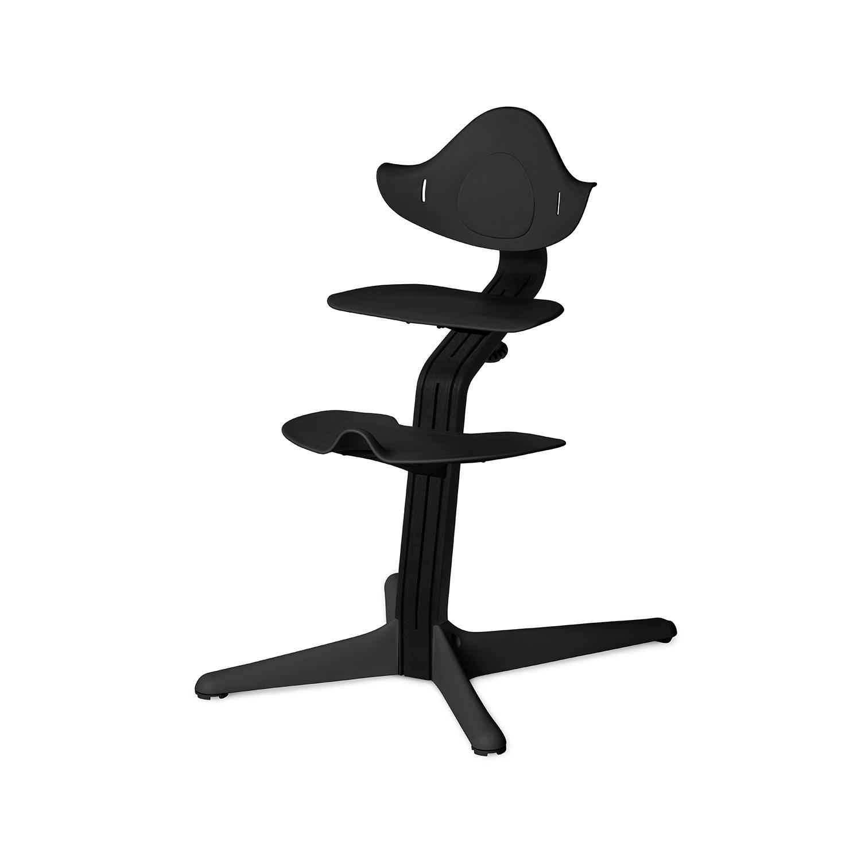 NOMI highchair meegroeistoel Basis eiken zwart stained en stoel zwart