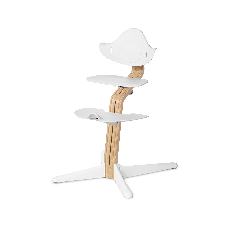 NOMI highchair meegroeistoel Basis eiken wit oiled en stoel wit