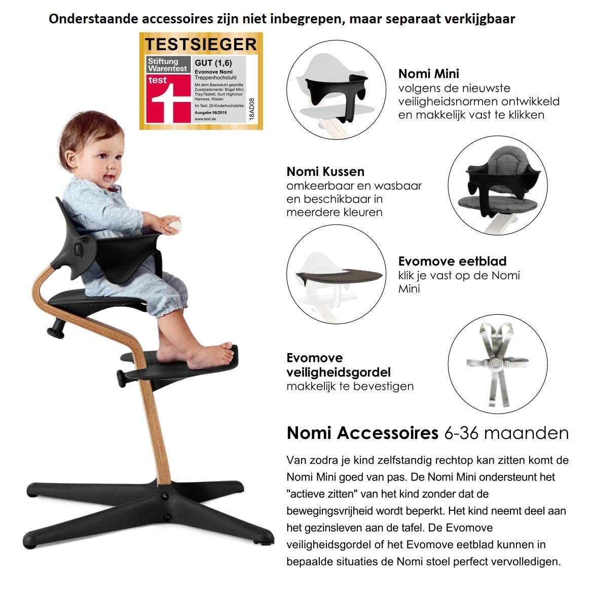 Nomi NOMI Hochstuhl Wachstumsstuhl Basic Eiche weiß geölt und Stuhl weiß