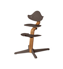 Nomi NOMI highchair meegroeistoel Basis eiken nature oiled en stoel coffee