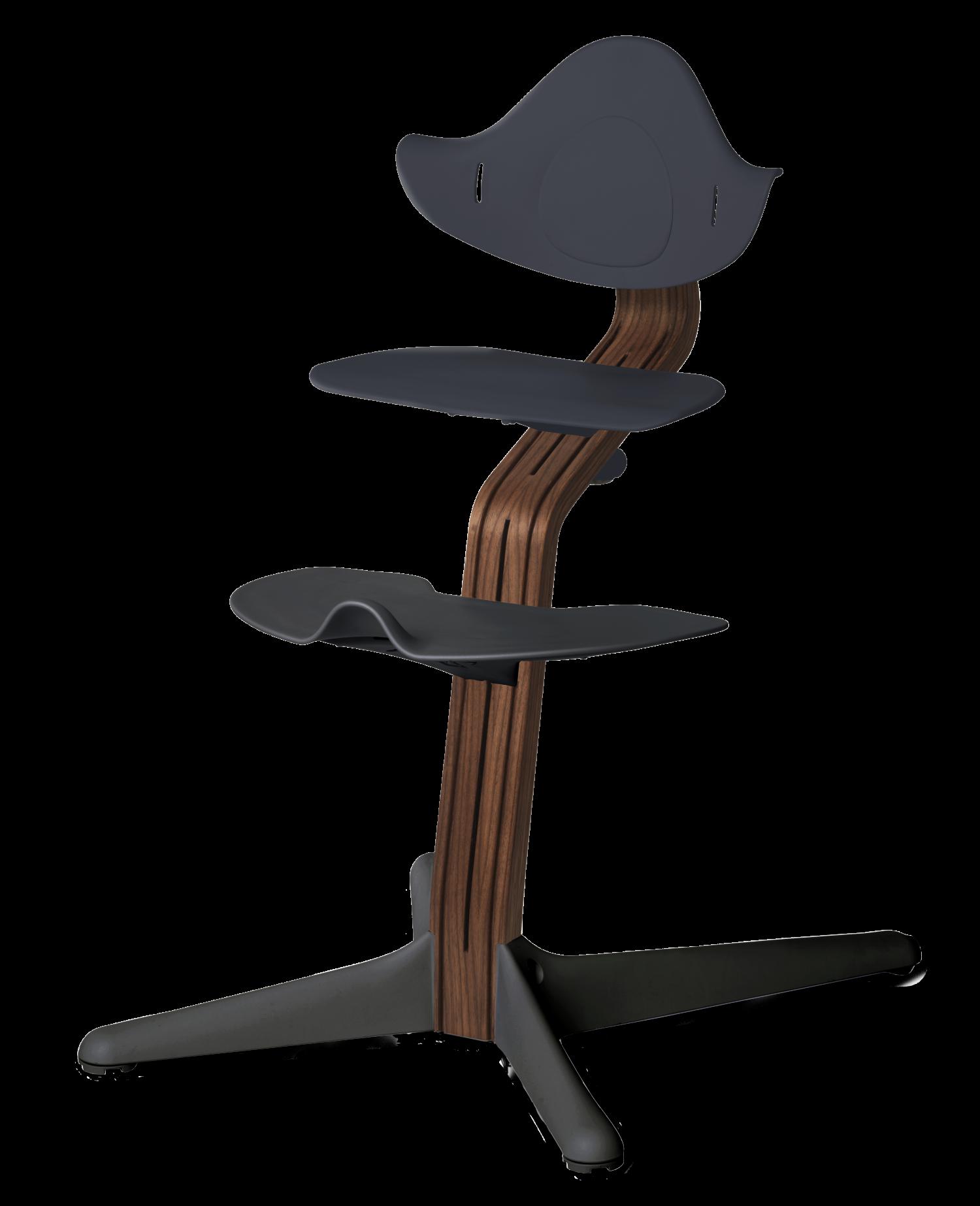 Nomi NOMI highchair meegroeistoel Basis walnoot nature oiled en stoel anthraciet