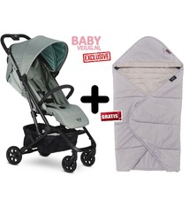 Easywalker MINI BY EASYWALKER BUGGY XS ASPEN GREEN EXCLUSIVE + gratis MINI by Easywalker multifuncionele Cocoon