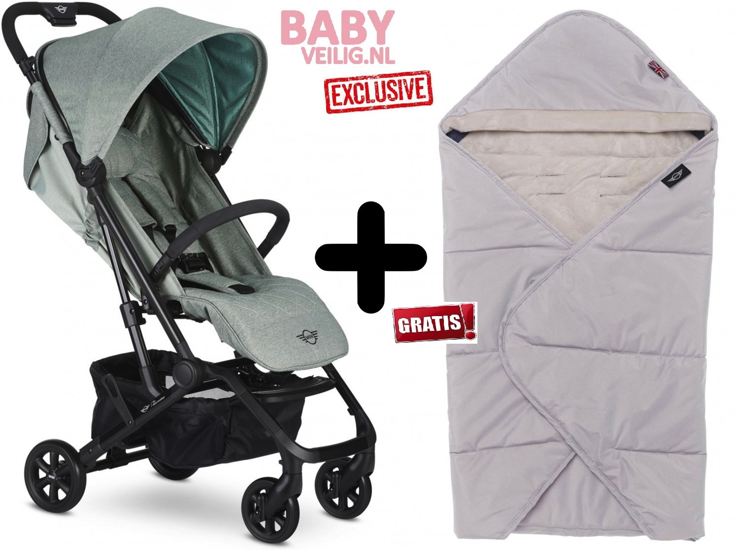 Easywalker MINI BY EASYWALKER BUGGY XS ASPEN GREEN EXCLUSIVE + MINI by Easywalker multifuncionele Co