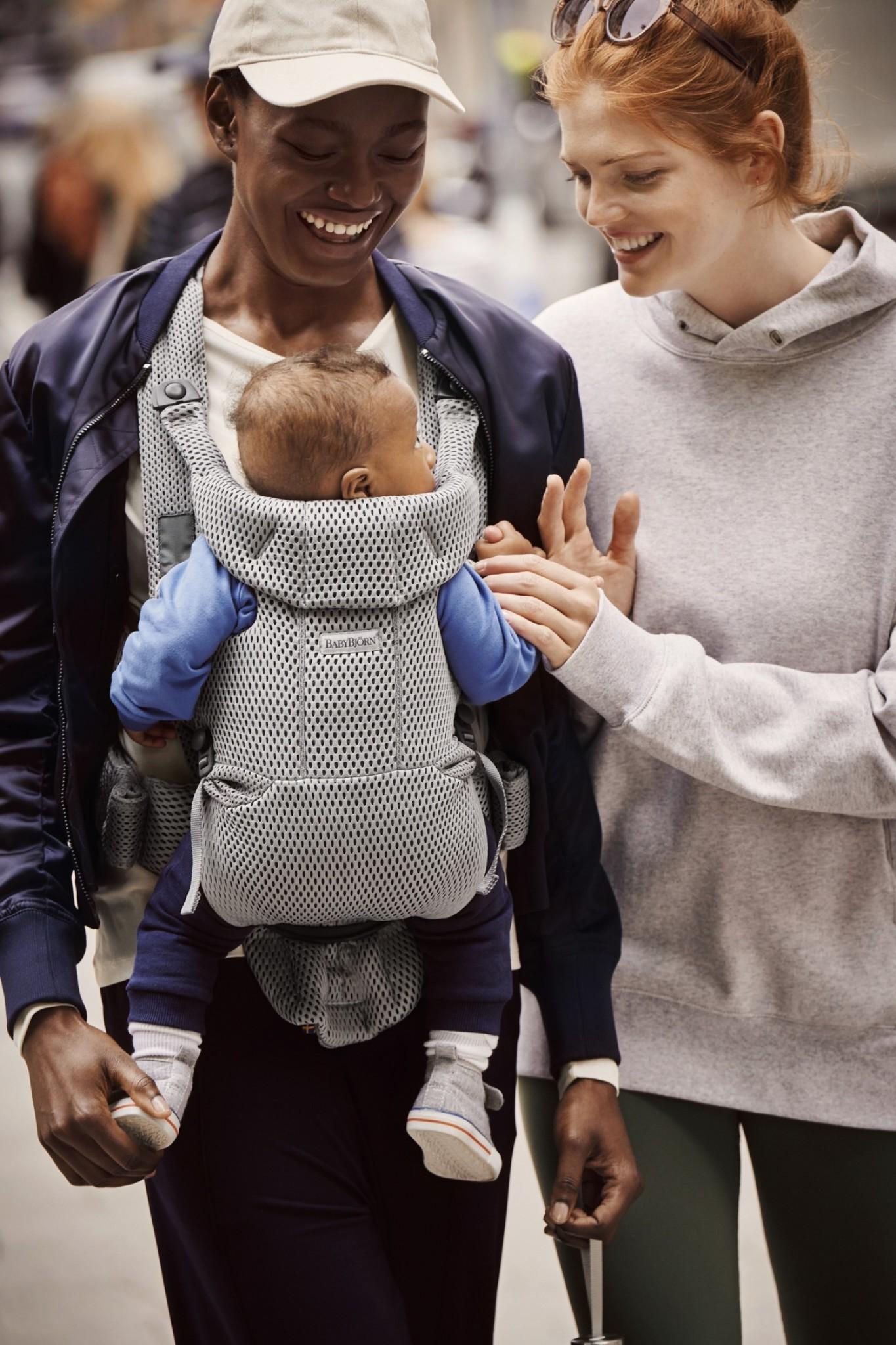 BABYBJÖRN BabyBjörn Draagzak MOVE Grijs 3D Mesh